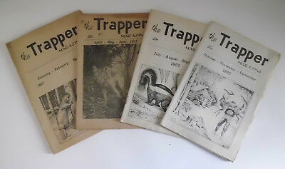 The Trapper Magazine 1957 1,2,3 & 4 Hawbaker Fort Loudon PA Vintage Trap Hunting