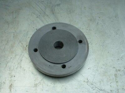"Lathe Backplate.  From a Portass Model ""S"" and has a 3/4 BSF thread (12TPI)"