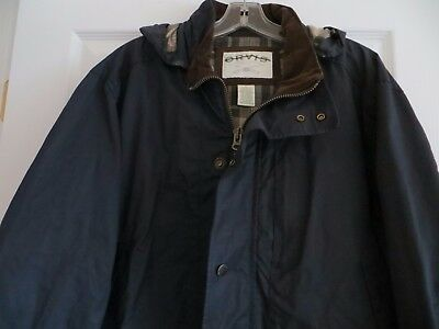 Orvis Men's Sandanona Wax Cloth Cotton Field Jacket Size L New