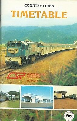 1982 Queensland Country Timetable