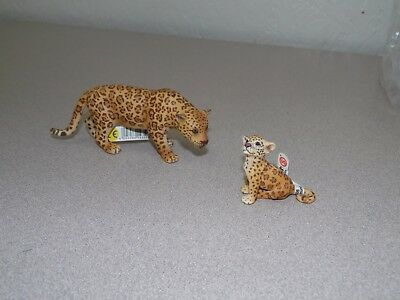 SCHLEICH 14359 14622 Jaguar and Cub - RETIRED W/Tags