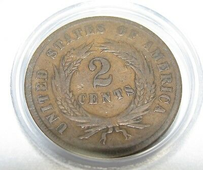1864 2C Two Cent Piece Large Motto