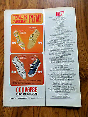 1963 Converse Rubber Converse Playtime Footwear Shoes Ad