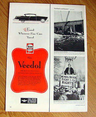 1950 Veedol Motor Oil Ad  Sports Coupe Russell Design 1950 Plymouth Ad
