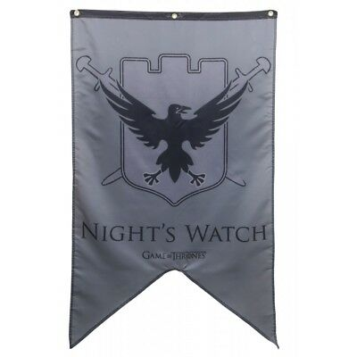 """Authentic GAME OF THRONES Nights Watch Banner Poster Flag 30"""" x 50"""" NEW"""