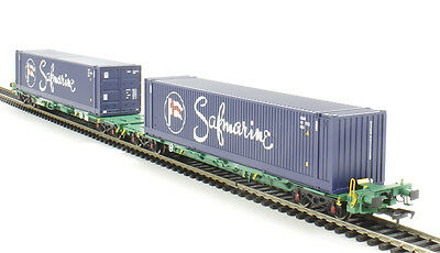 Bachmann Branchline 37-314  2 Intermodal bogie wagons with 2 x 45ft cont