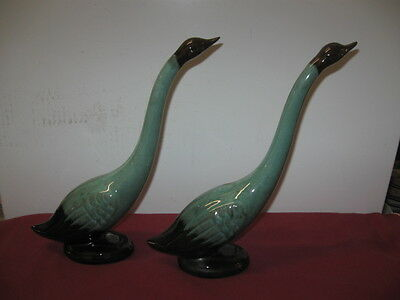 Blue Mountain Pottery Of Canada  --  Green Swans (2)