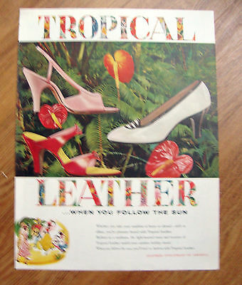 1955 Tropical Leather Shoes Ad