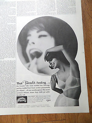 1962 Life Formfit Bra Girdle Ad  The Formfit 500 Molded Bra