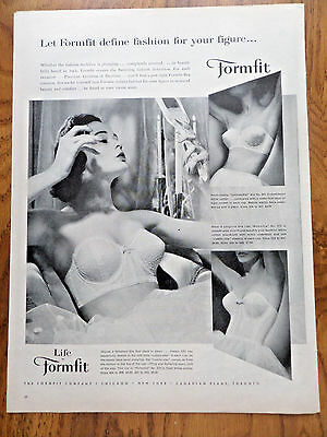 1957 Life by Formfit Bra Ad  Define Fashion Your Figure