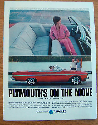 1963 Plymouth Fury Convertble Ad