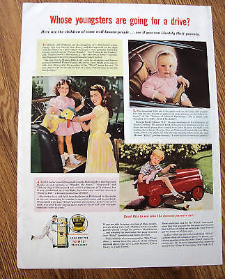 1947 Ethyl Gasoline Ad Children of Bennett Kyser Trevor