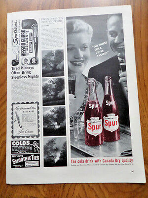 1942 Canada Dry Spur Cola Soda Bottle Ad