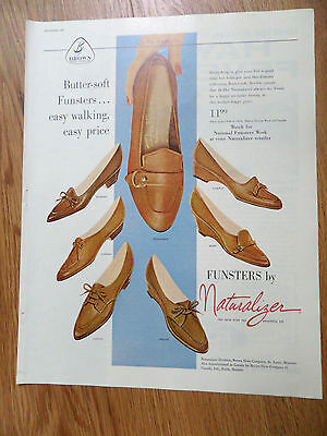 1960 Naturalizer Shoes Ad  Funsters