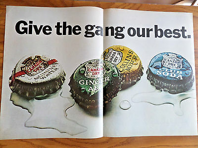 1966 Canada Dry Soda Bottle Caps Ad  Give the Gang our Best