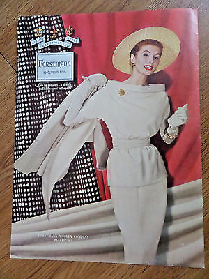 1955 Forstmann 100% Virgin Wool Fashion Ad
