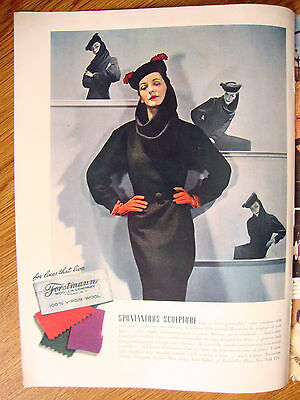 1941 Forstmann Woolen 100% Virgin Wool Fashion Ad