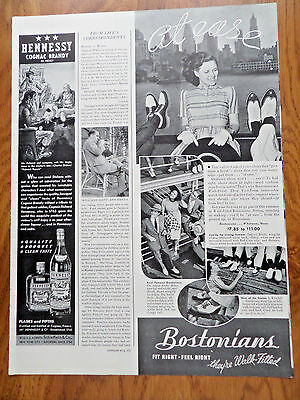 1940 Bostonians Shoes Ad  At Ease