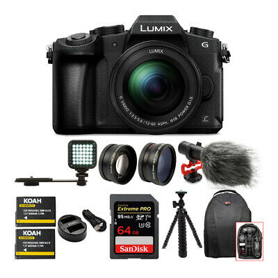Panasonic LUMIX G85MK Mirrorless Camera &12-60mm Lens w/ 64GB Accessory Bundle