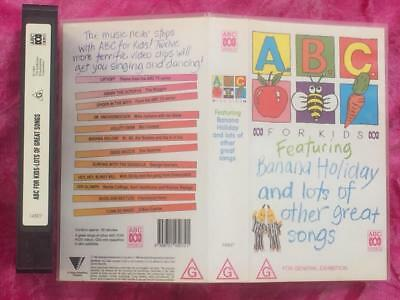 Abc For Kids - Featuring Banana Holiday And Lots Of Other Songs- Vhs -Video Tape
