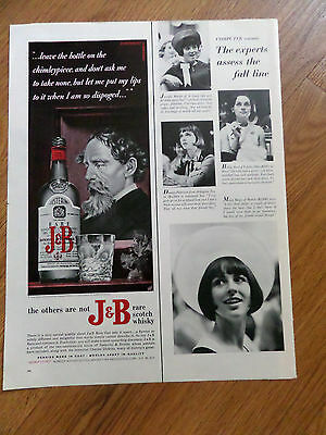 1965 J & B  Whiskey Ad Martin Chuzzlewit by Charles Dickens