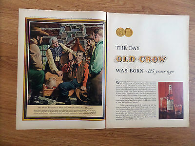 1960 Old Crow Whiskey Ad Day OC Was Born 125 Years Ago