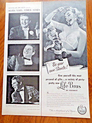 1953 Life Formfit Bra Girdle Ad  Be Your Own Santa
