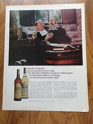 1966 Christian Brothers Cabernet Sauvignon & Blanc Ad Wine Ad Brother Timothy