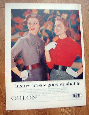 1956 Orlon Du Pont Ad  Luxury JerseyMorlove Blouse Designs