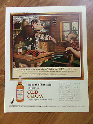 1963 Old Crow Whiskey Ad London Eden Game of Checkers