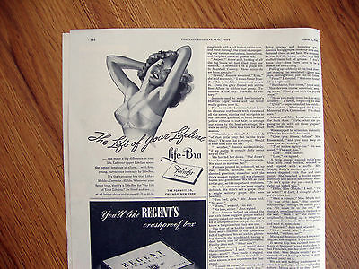 1946 Life Formfit Bra Ad The Lift of Your Lifeline