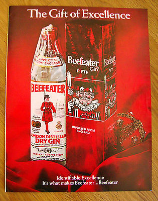 1970 Beefeater London Distilled Dry Gin Ad