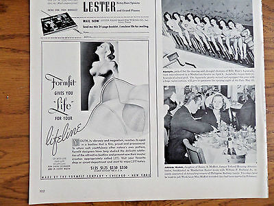 1940 Formfit Life Bra Ad For Your Lifeline