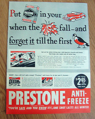 1946 Prestone Anti-Freeze Ad