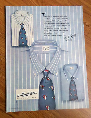 1950 Manhattan Shirt Wardrobe Ad