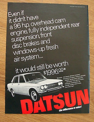 1968 Datsun Ad  All-Synchro 4 Speed