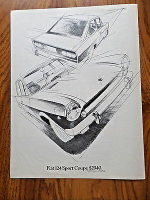1969 Fiat 124 Sport Coupe Ad $2940