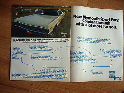 1971 Plymouth Sport Fury Ad