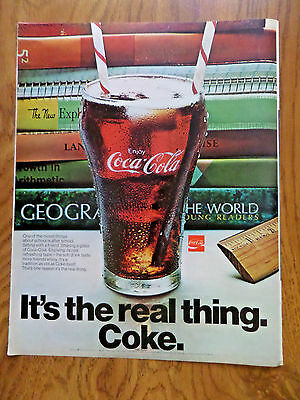 1970 Coke Coca-Cola Ad  Nicest Things about School is After School