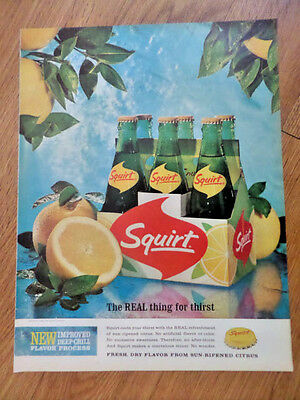 1964 Squirt Soda  Pop Ad    New Improved Deep-Chill Flavor Process