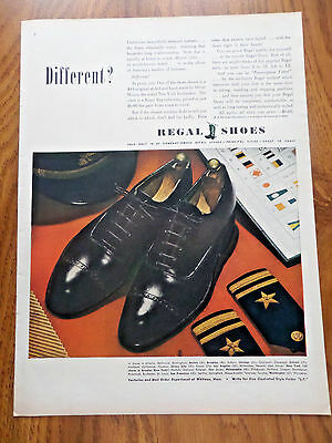 1943 Regal Shoes Ad  Different?  Military Theme