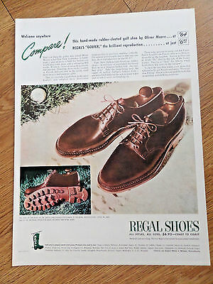 1944 Regal Shoes Ad  The Golfer by Oliver Moore