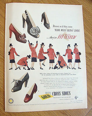 1945 Red Cross Shoes Ad  They're Fit-Tested