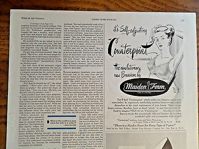 1947 Maidenform Bra Ad Counterpoint