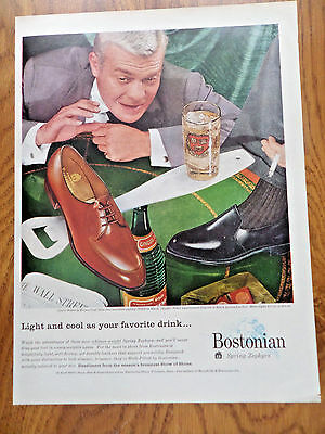 1957 Bostonian Spring Zephyrs Shoes Ad