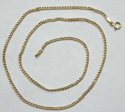 ITALY 9ct/375 YELLOW SOLID GOLD UNISEX NECKLACE CHAIN  rrp $245.00