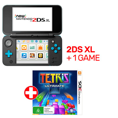 Nintendo New 2DS XL Console Black & Blue + 1 Game - Nintendo 3DS - BRAND NEW