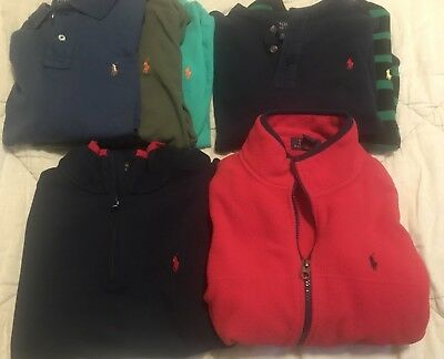 Polo Ralph Lauren Boys Lot Size 10-12 Shirts Polos Jacket Long Sleeve Fleece