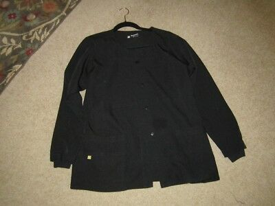 Four Stretch  lab coat in black  Size Large New without tags