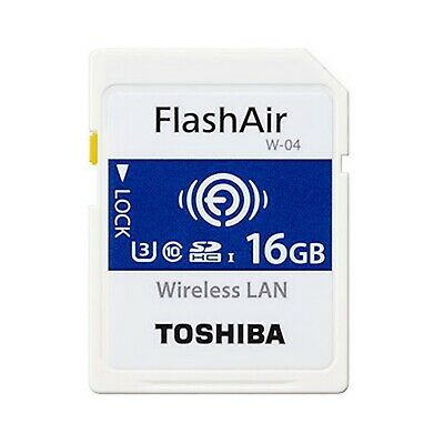 Toshiba 16GB FlashAir Flash Air Wireless SD SDHC Class 10 WLAN W-04 Memory Card